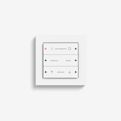 Smart Home/ Smart Building | Pushbutton Sensor 3 | Pure white matt | KNX-Systems | Gira