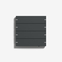Smart Home/ Smart Building | Pushbutton Sensor 4 | Anthracite (varnished) | KNX-Systems | Gira