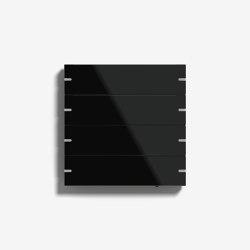 Smart Home/ Smart Building | Pushbutton Sensor 4 | Black glass | KNX-Systems | Gira