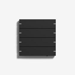 Smart Home/ Smart Building | Pushbutton Sensor 4 | Black matt (varnished) | KNX-Systems | Gira