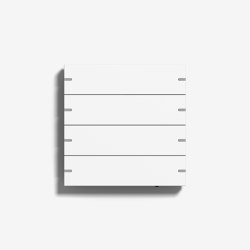 Smart Home/ Smart Building | Pushbutton Sensor 4 | Pure white matt (varnished) | KNX-Systems | Gira