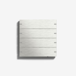 Smart Home/ Smart Building | Pushbutton Sensor 4 | Stainless steel | KNX-Systems | Gira