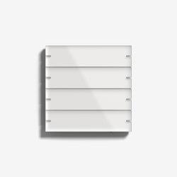 Smart Home/ Smart Building | Pushbutton Sensor 4 | White glass | KNX-Systems | Gira