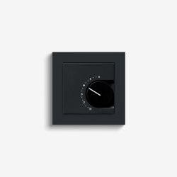 Heating and Temperature | Room temperature controller | Black matt (including E2) | Heating / Air-conditioning controls | Gira