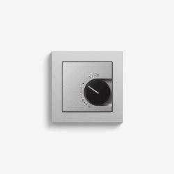 Heizung und Klima | Raumtemperaturregler mit Öffner | Farbe Alu (mit E2) | Smart Home | Gira