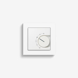 Heizung und Klima | Raumtemperaturregler mit Öffner | reinweiß seidenmatt (mit E2) | Smart Home | Gira