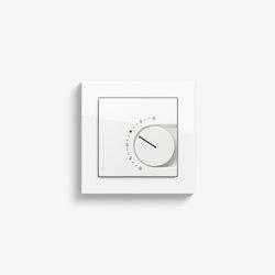 Heizung und Klima | Raumtemperaturregler mit Öffner | reinweiß glänzend (mit E2) | Smart Home | Gira