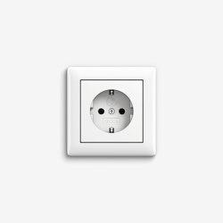 Standard 55   Socket outlet Pure white glossy   Schuko sockets   Gira
