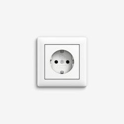 Standard 55 | Socket outlet Pure white matt | Schuko sockets | Gira