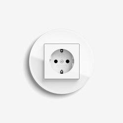 Studio | Socket outlet Glass white | Schuko sockets | Gira