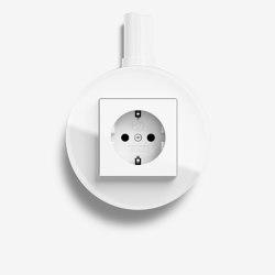 Studio | Socket outlet Glass white, surface-mounted | Schuko sockets | Gira