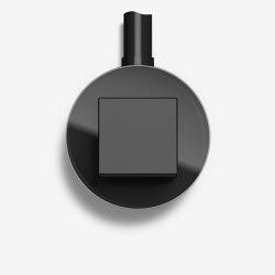 Studio | Switch Glass black, surface-mounted | Push-button switches | Gira