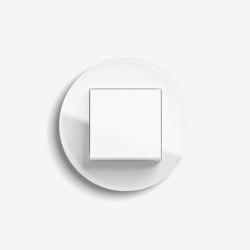 Studio | Schalter Glas Weiß | Tastschalter | Gira