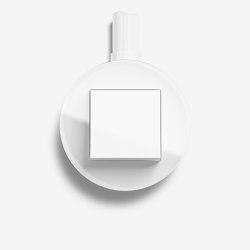Studio | Switch Glass white, surface-mounted | Push-button switches | Gira
