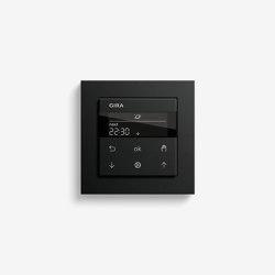 Jalousiesteuerung | System 3000 Jalousie- und Schaltuhr Display | Schwarz matt (mit E2) | Smart Home | Gira