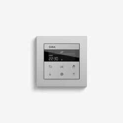 Jalousiesteuerung | System 3000 Jalousie- und Schaltuhr Display | Farbe Alu (mit E2) | Smart Home | Gira