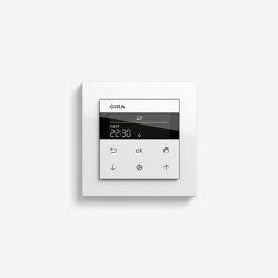 Jalousiesteuerung | System 3000 Jalousie- und Schaltuhr Display | Reinweiß glänzend (mit E2) | Smart Home | Gira