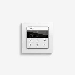 Jalousiesteuerung | System 3000 Jalousie- und Schaltuhr Display | Reinweiß seidenmatt (mit E2) | Smart Home | Gira