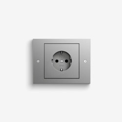 TX_44 | Colour aluminium | Schuko sockets | Gira