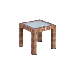Bellini | End Table Bellini Tobacco 50X50 With Glass Top | Side tables | MBM