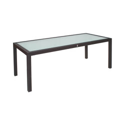 Bellini | Table Bellini Mocca 90X160 With Glas Top | Dining tables | MBM