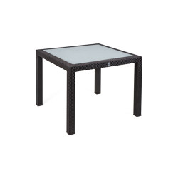 Bellini | Table Bellini Mocca 90X90 With Glas Top | Dining tables | MBM