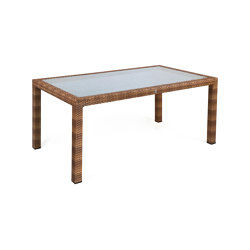 Bellini | Table Bellini Tobacco 90X160 With Glass Top | Dining tables | MBM