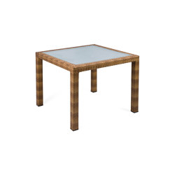 Bellini | Table Bellini Tobacco 90X90 With Glass Top | Dining tables | MBM