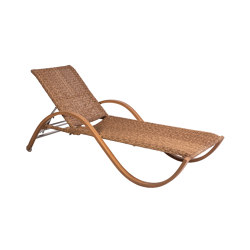 Bow | Lounger Bow Twist Natural/Borneo | Sun loungers | MBM