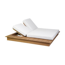 La Villa | Double Lounger Daybed La Villa Borneo Incl. Cushion | Sun loungers | MBM