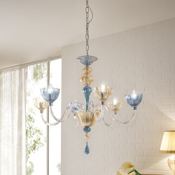 Color Chandelier 6 Lights | Chandeliers | Cangini e Tucci