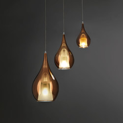 Zoe Suspension Lamp 3L Gold | Suspended lights | Cangini e Tucci