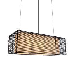 Kai Rectangular Hanging Lamp | Suspended lights | Kenneth Cobonpue