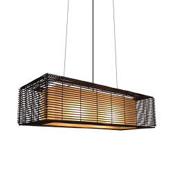 Kai Rectangular Hanging Lamp, slim | Suspended lights | Kenneth Cobonpue