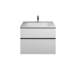 Fiumo | Mineral cast washbasin incl. vanity unit | Vanity units | burgbad