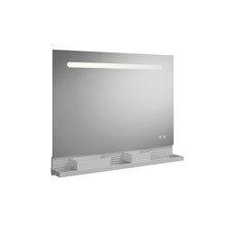 Fiumo | illuminated mirror | Bath shelves | burgbad