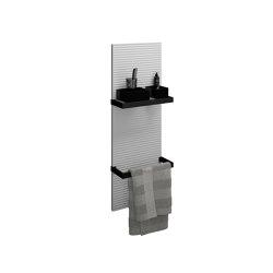 Fiumo | Wall panel | Towel rails | burgbad