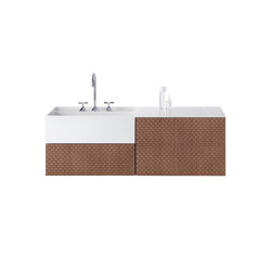 rc40 | Mineral cast washbasin RC40 M45 incl. vanity unit | Vanity units | burgbad