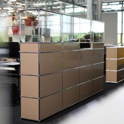 USM Haller Reception Station with Protection Screen | USM beige | Counters | USM