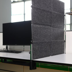 USM Privacy Panel as protective attachment | Anthracite | Table accessories | USM