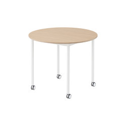 Base Table | Round | With Castors | Mesas comedor | Muuto