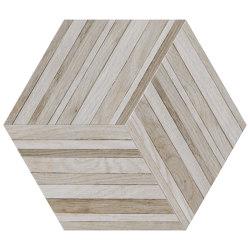 Wooddesign Blend Nougat 40,9x47,2 Esagono   Ceramic tiles   Settecento