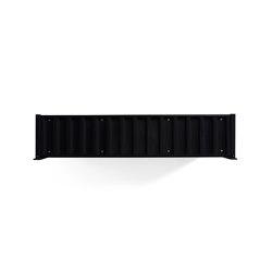DS Container | Flat, black grey RAL 7021 | Estantería | Magazin®