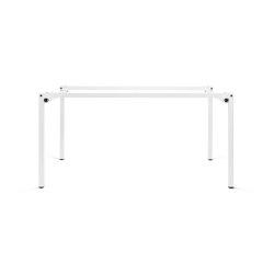 Erik | Table frame, pure white RAL 9010 | Trestles | Magazin®