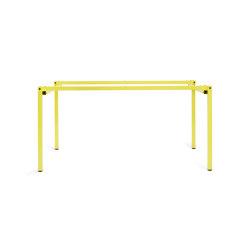 Erik | Table frame, sulfur yellow RAL 9016 | Trestles | Magazin®