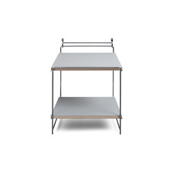Hegel   Table or wall desk, chrome / light grey   Shelving   Magazin®