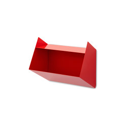 Schlund   Wall Shelf, traffic red RAL 3020   Shelving   Magazin®