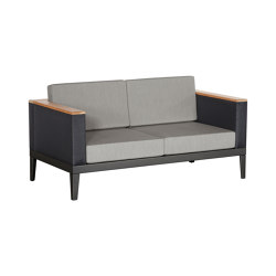 Aura Deep Seating Two-seat Settee DS (Graphite Frame - Charcoal Sides) | Sofas | Barlow Tyrie