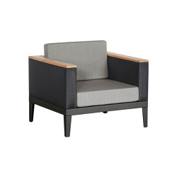 Aura Deep Seating Armchair DS (Graphite Frame - Charcoal Sides) | Armchairs | Barlow Tyrie