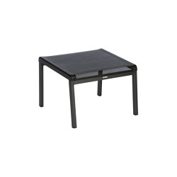 Aura Footstool DS (Graphite Frame - Charcoal Sling) | Poufs | Barlow Tyrie